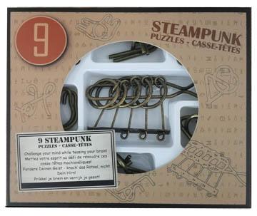 9 метални пъзела steampunk кафяв