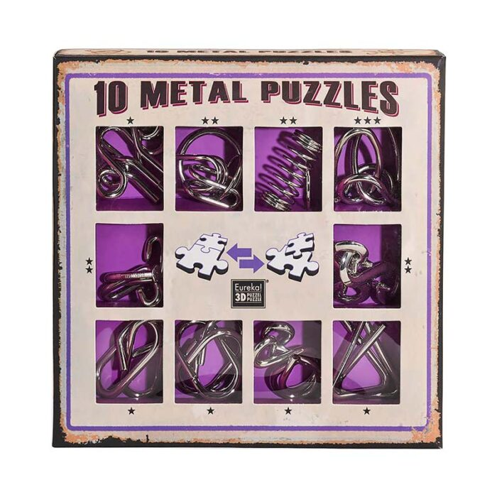 Метални пъзели, лилав комплект