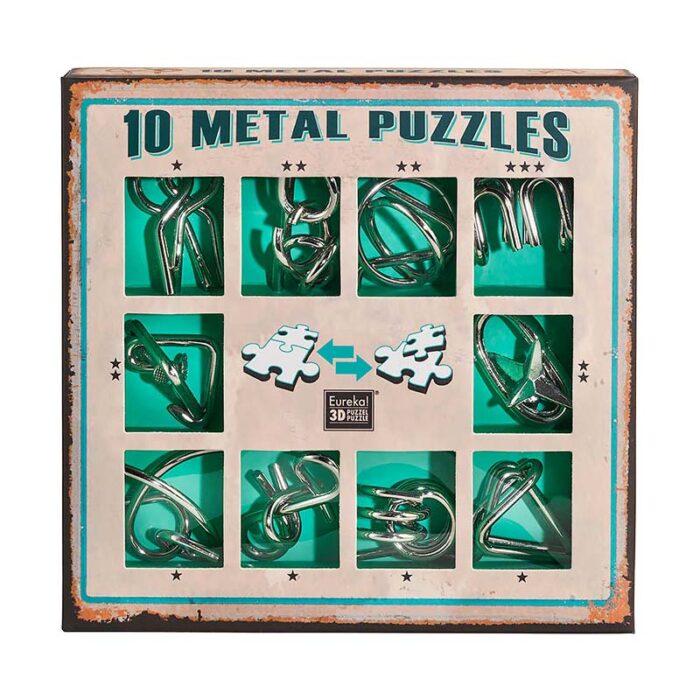 Метални пъзели, зелен комплект