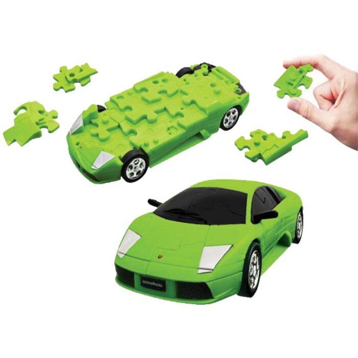 3D pazel lamborghini murcielago zeleno Eureka 3d puzzles pazel