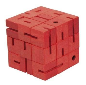 Flexi cube бамбуков пъзел Fridolin