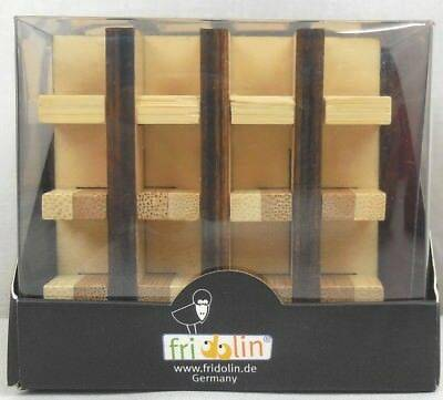 Бамбуков пъзел Multi Square Fridolin кутия