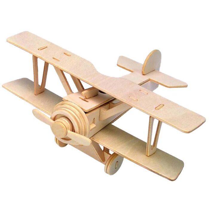 Дървен пъзел самолет