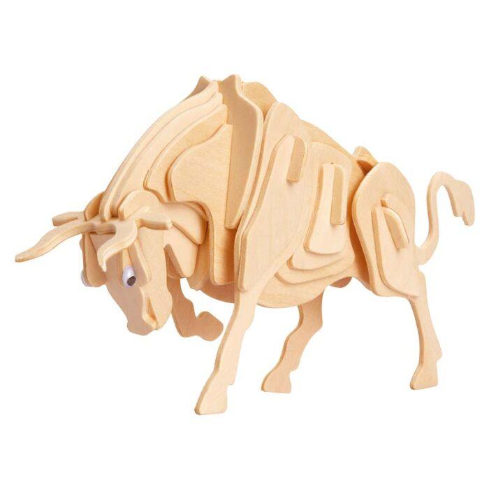 Дървен пъзел бик