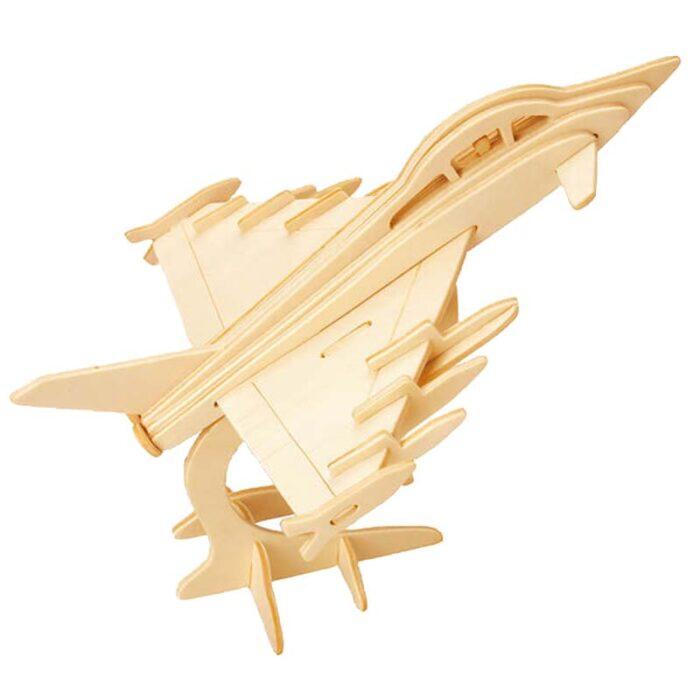 Дървен пъзел изтребител