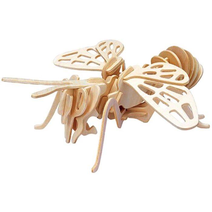 Дървен пъзел пчела