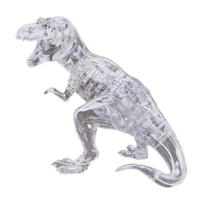 Кристален 3D пъзел-Динозавър бял
