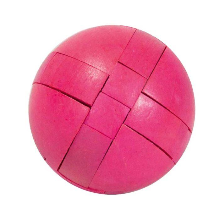 Логически бамбуков пъзел Ball Fridolin розава топка