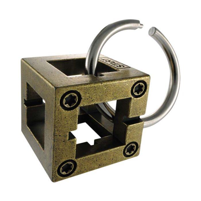 Логически метален пъзел Box Cast Huzzle събран