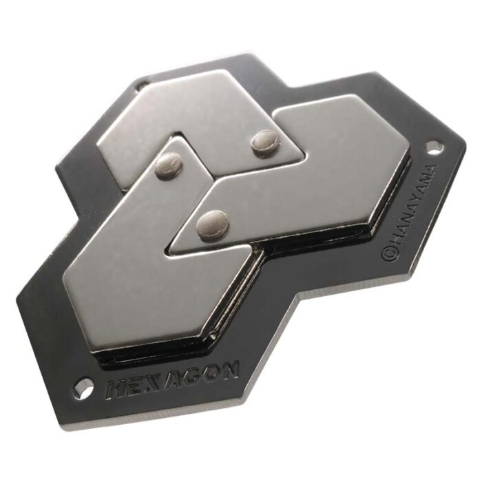 Логически метален пъзел Hexagon Cast Huzzle сглобен