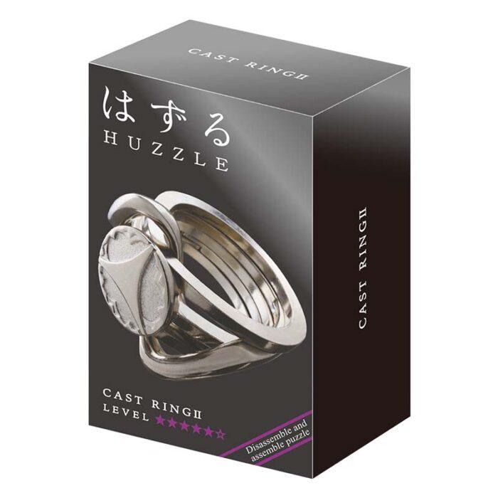 Логически метален пъзел Ring 2 Cast Huzzle кутия
