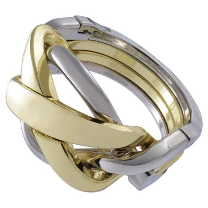 Логически метален пъзел Ring Cast Huzzle събран