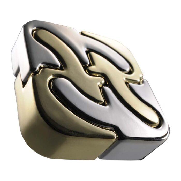 Логически метален пъзел Spiral Cast Huzzle събран