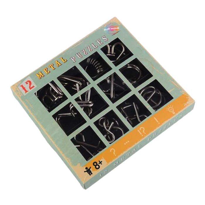 Логически метални пъзел 12 Metal Puzzles