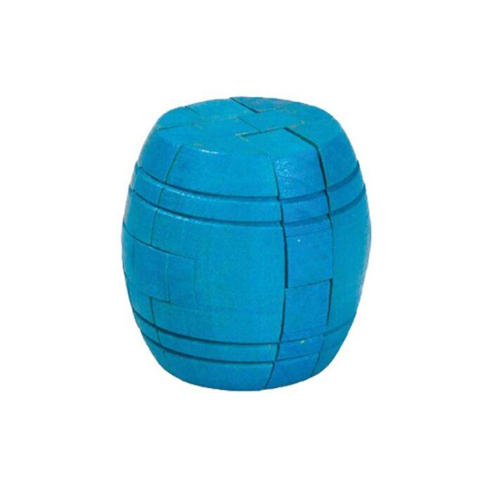 Логически мини бамбуков пъзел Barrel Fridolin син барел