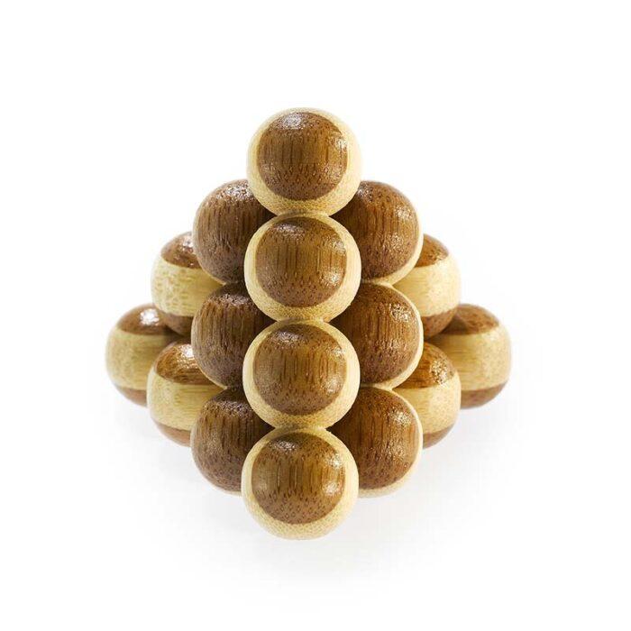 Логически мини бамбуков пъзел Cannon Balls Fridolin 1