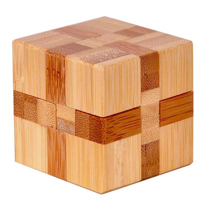 Логически мини бамбуков пъзел Cube Fridolin