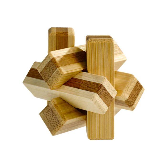 Логически мини бамбуков пъзел Firewood Fridolin
