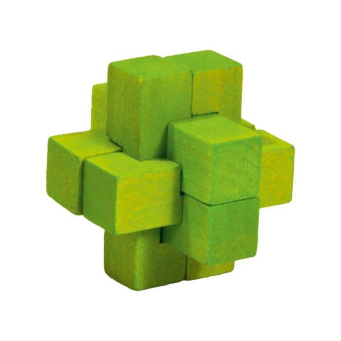 Логически мини бамбуков пъзел Green Cross Fridolin