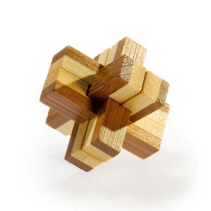 Логически мини бамбуков пъзел Knotty Fridolin
