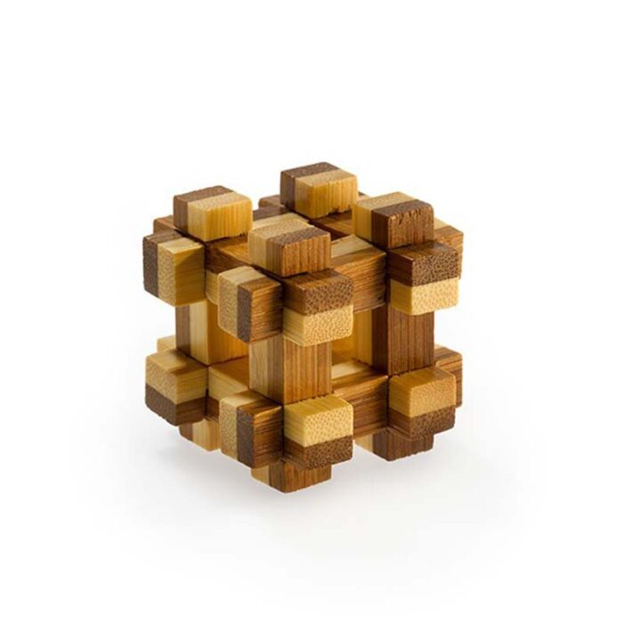 Логически мини бамбуков пъзел Prison House Fridolin