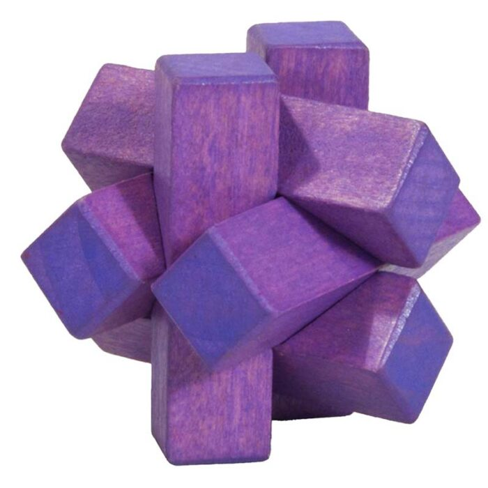 Логически мини бамбуков пъзел Purple Firewood Fridolin
