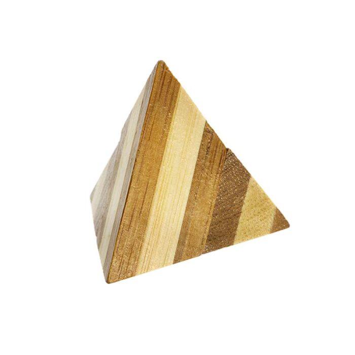 Логически мини бамбуков пъзел Pyramid Fridolin