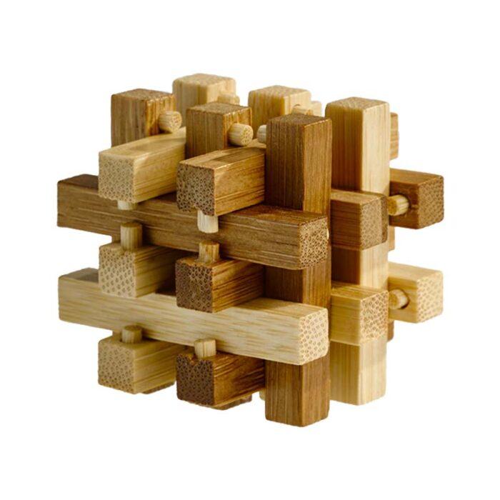 Логически мини бамбуков пъзел Slide Puzzle Fridolin