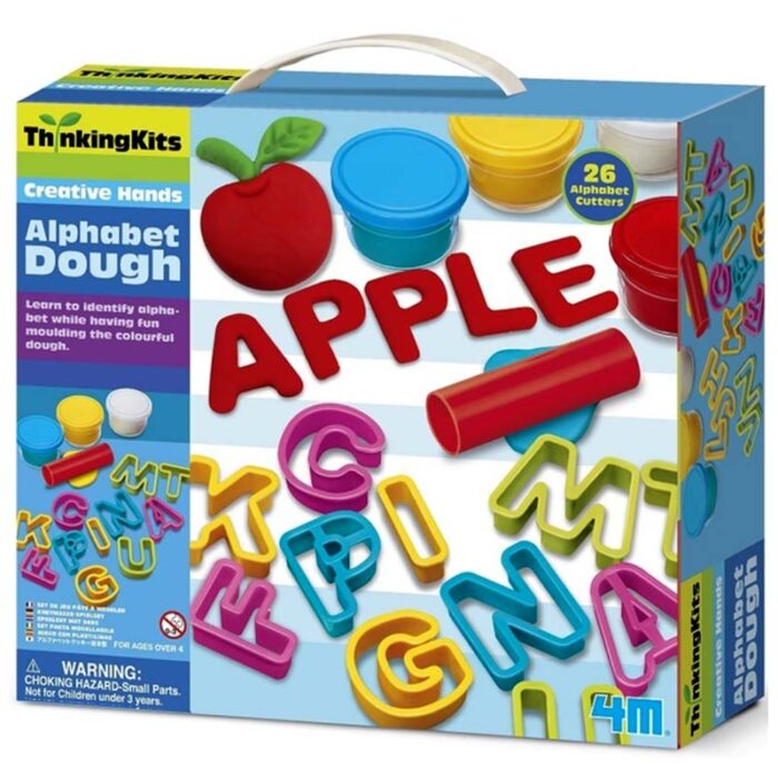 Образователен комплект Alphabet Dough 4M Азбука от пластелин кутия