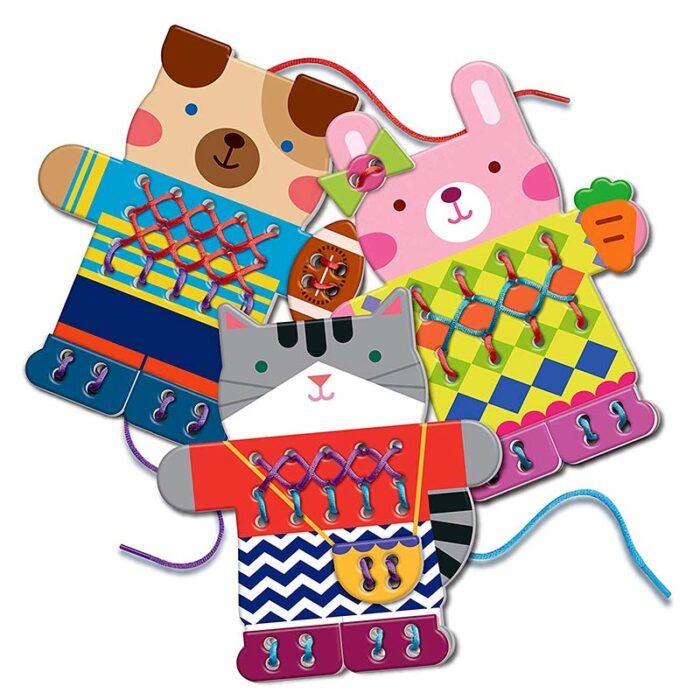 Образователен комплект Easy-Stich Animal Jumpers 4M Лесно оплети животински пуловерчета