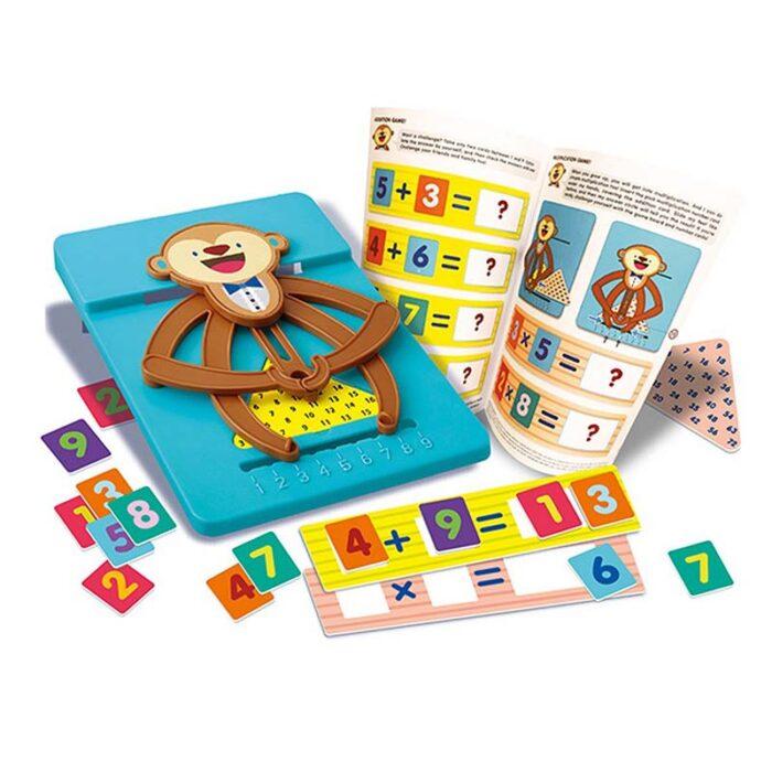 Образователен комплект Math Monkey 4M Математическа маймунка шаблон и принадлежности за смятане