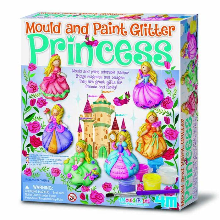 Образователен комплект Mould and Paint Princess 4M Оформи и оцвети принцеси кутия