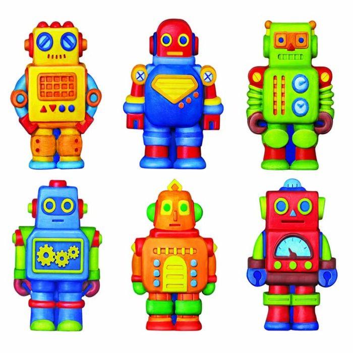 Образователен комплект Mould and Paint Robots 4M Моделирай и оцвети роботи