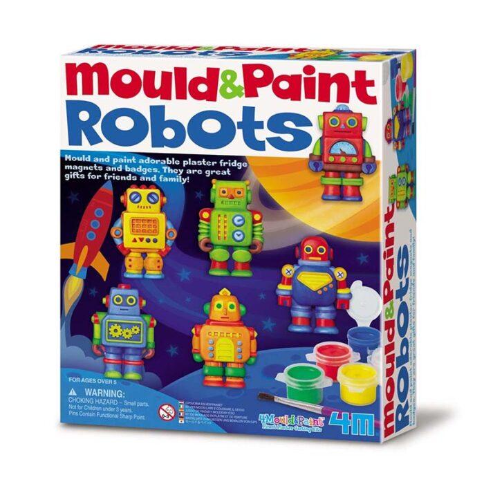 Образователен комплект Mould and Paint Robots 4M Моделирай и оцвети роботи кутия