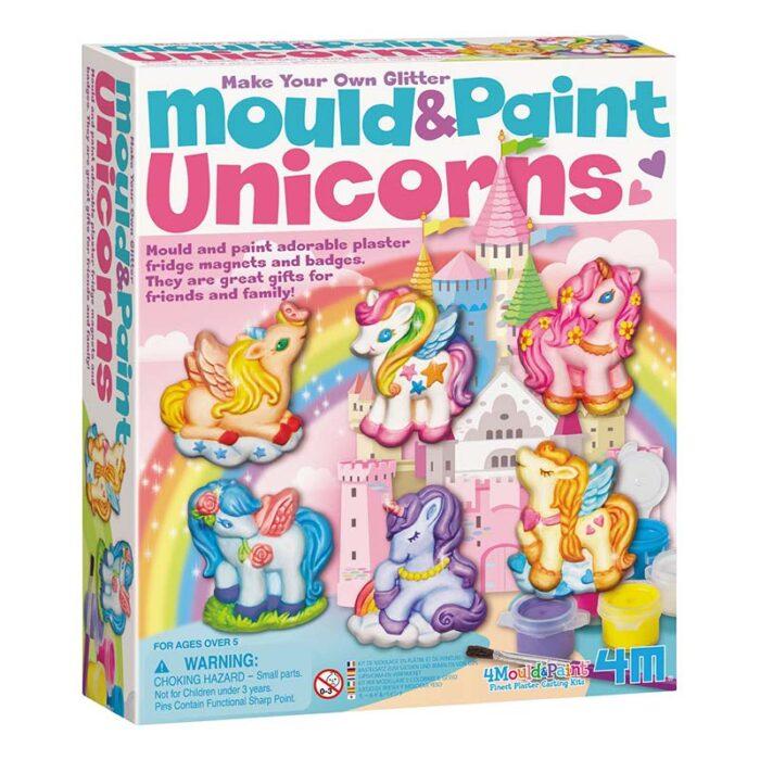 Образователен комплект Mould and Paint Unicorns Моделирай и оцвети Еднорози кутия