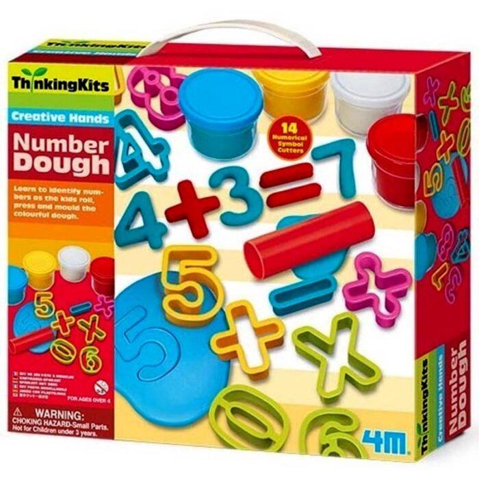 Образователен комплект Number Dough 4M Пластелин с цифри