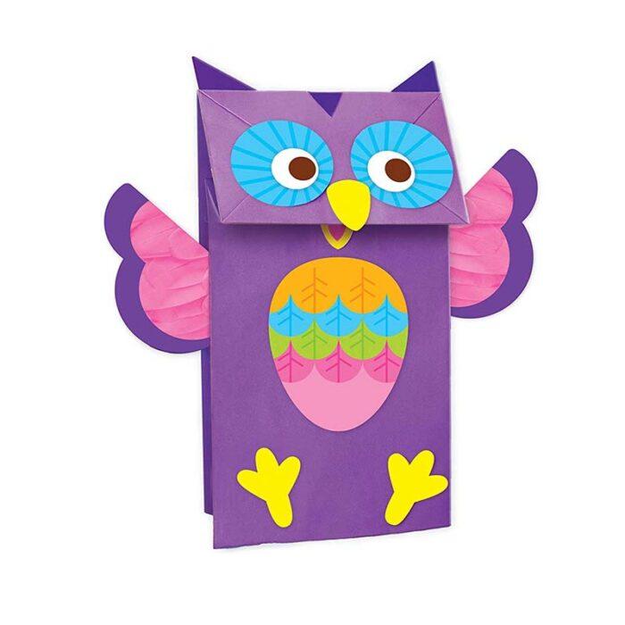 Образователен комплект Paper Bag Animial Puppets 4M Животни от хартиени пликове бухал