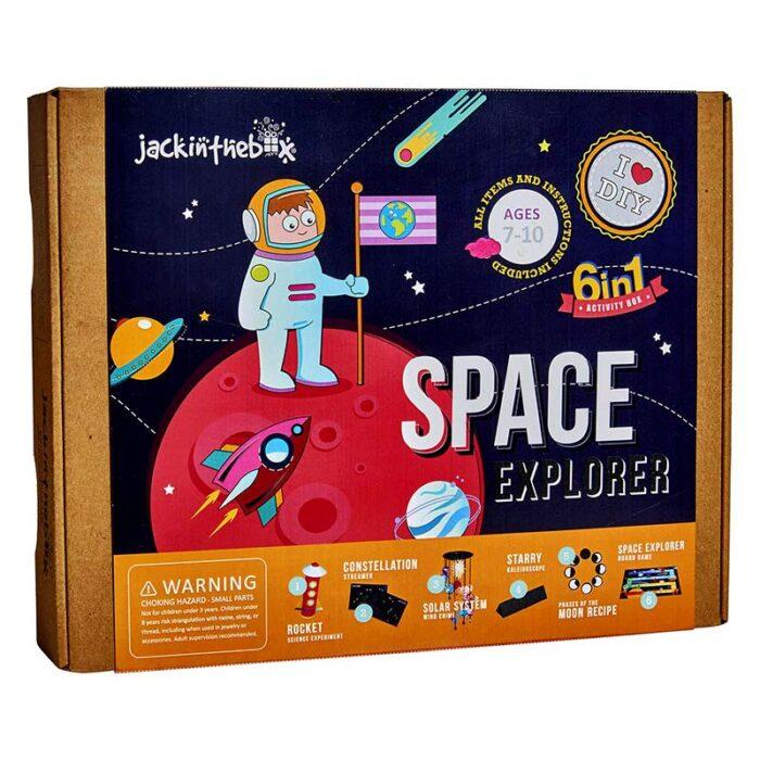 Образователен комплект Space Explorer 6 in 1 Jack In The Box Космически изследовател кутия лице