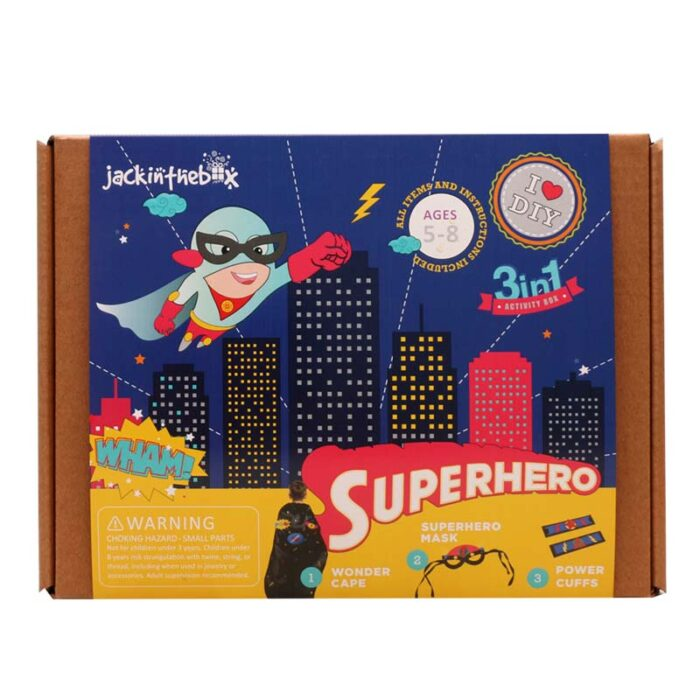 Образователен комплект Superhero Jack In The Box Супер кутия лице