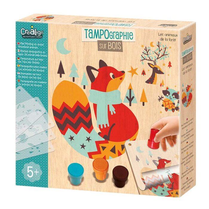 Образователен комплект Горски животни Crealign кутия