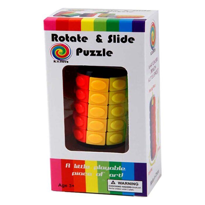 Цилиндър на рубик Rotate and slide puzzle кутия лице