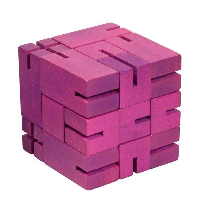 Flexi Cube Бамбуков пъзел Fridolin лилав