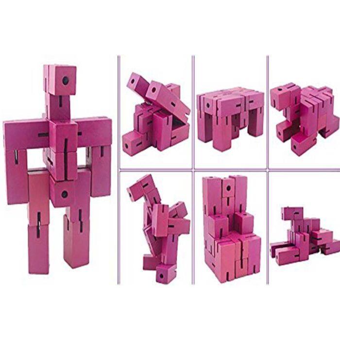 Flexi Cube Бамбуков пъзел Fridolin син фигура