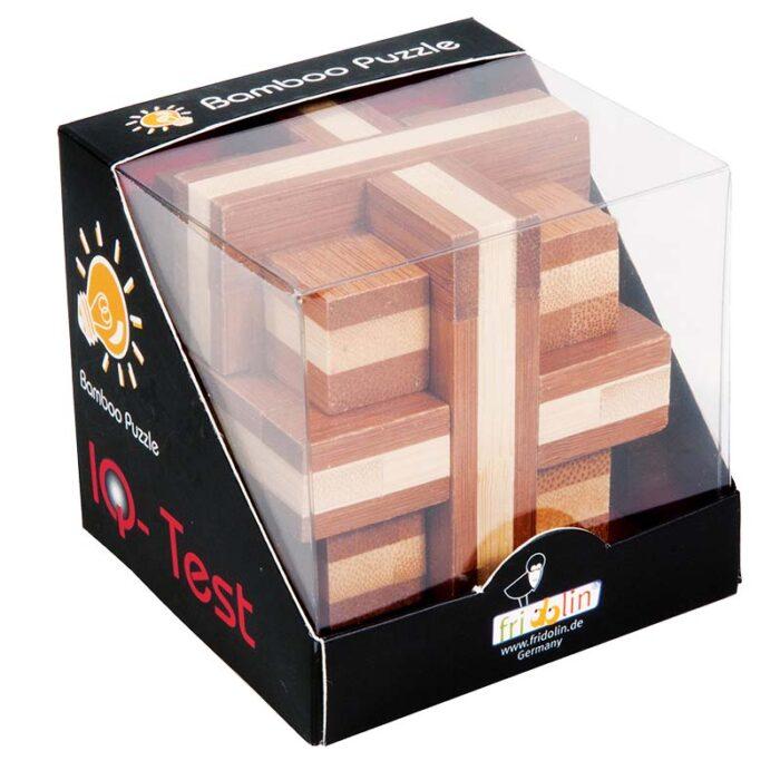 Бамбуков пъзел Double Cross Fridolin кутия