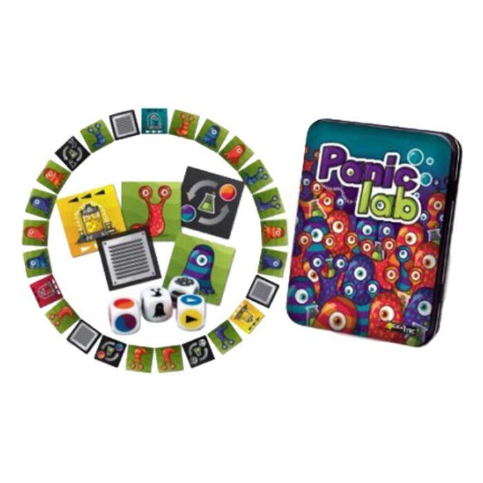 Игра с карти Panic lab карти и пулове Gigamic