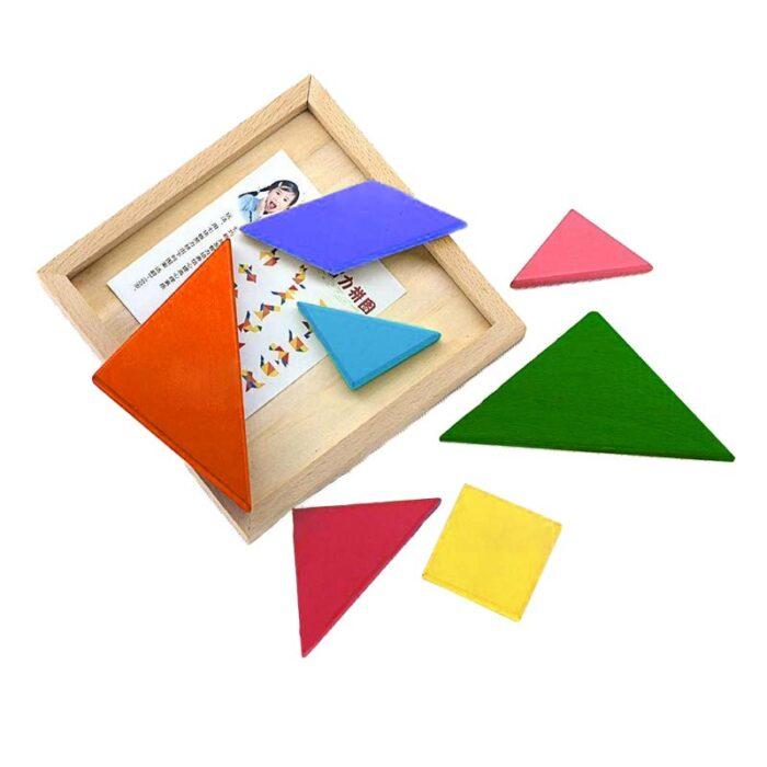 Tangram color pieces Танграм цветни части