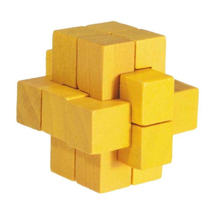 Бамбуков пъзел Block Cross Yellow Fridolin