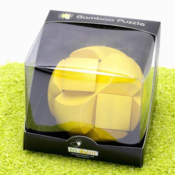 Бамбуков пъзел Yellow Ball Fridolin кутия