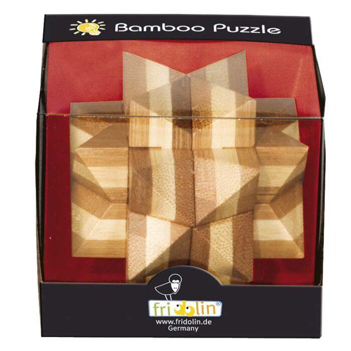Бамбуков пъзел Звездата на давид Fridolin кутия