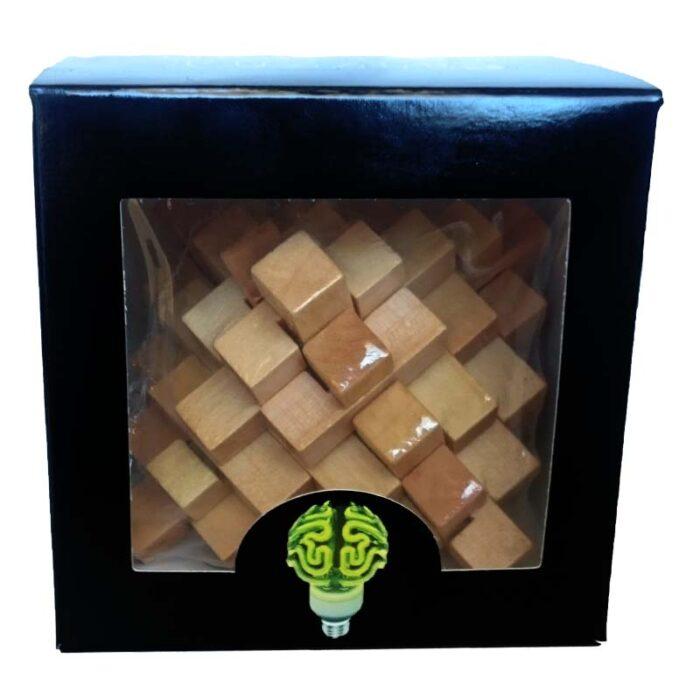 Дървен пъзел Double Pyramid World Creative Puzzles Дървена фигура кутия
